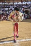 Hiszpański bullfighter Curro Diaz przy paseillo lub inicjału pa Obrazy Stock
