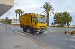 Hiszpański Dustcart Fotografia Royalty Free
