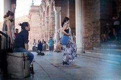 Hiszpański flamenco taniec zdjęcie royalty free