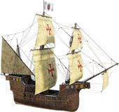 Hiszpański galeon, żeglowanie statek, Odizolowywający obrazy royalty free