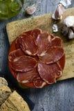 Hiszpański lomo embuchado, leczący wieprzowiny tenderloin fotografia royalty free