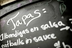 Hiszpański menu Obraz Stock