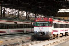 Hiszpański pociąg pasażerski Zdjęcie Royalty Free