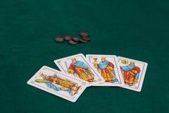 Hiszpański pokład karty zdjęcie royalty free