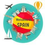 Hiszpański przyciąganie royalty ilustracja