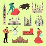 Hiszpański przyciąganie ilustracja wektor