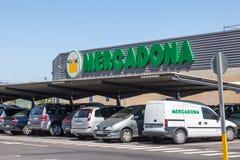 Hiszpański supermarket Mercadona Obraz Royalty Free