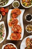 Hiszpański tapas menu Zdjęcia Stock