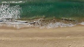 Hiszpański trutnia materiał filmowy nad plażą w Costa Brava blisko grodzkiego Palamos zbiory wideo