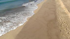 Hiszpański trutnia materiał filmowy nad plażą w Costa Brava blisko grodzkiego Palamos zbiory