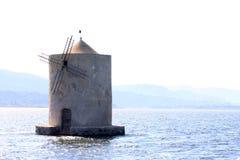Hiszpański wiatraczek w jeziorze Orbetello, Włochy zdjęcia stock