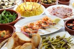 Hiszpańskich tapas prętowy jedzenie Obraz Stock