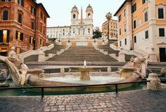Hiszpańszczyzna kroki w Rzym, Włochy nikt fotografia royalty free