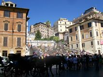 Turysta w Rome obraz royalty free