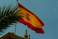 Hiszpańszczyzny flaga zdjęcie royalty free