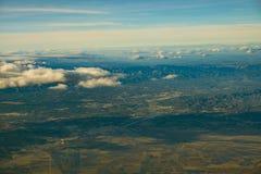 Hiszpańszczyzny kształtują teren antenę od ptasiego ` s oka widoku Fotografia Stock