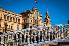 Hiszpańszczyzny Obciosują w Sevilla, Hiszpania (Plac De Espana) Fotografia Stock