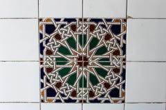 Hiszpańszczyzny płytka Ornamentuje patchworku arabesk obrazy royalty free
