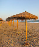 Hiszpańszczyzny plaża; casta Del Zol, Andalucia; Hiszpania Zdjęcie Stock