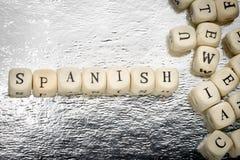 Hiszpańszczyzny słowo Zdjęcia Stock