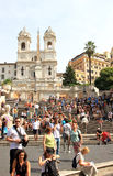 Hiszpańszczyzna kroki od Piazza Di Spagna, Rzym obraz stock