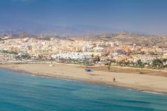 Hiszpańszczyzny suną almerÃa Fantastyczne plaże cieszyć się obrazy stock