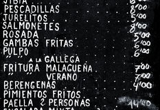 Hiszpańscy tapas Zdjęcia Stock