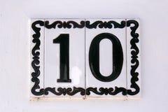 Hiszpańska ulica liczba 10 Zdjęcia Royalty Free