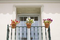 hiszpański balkon. Zdjęcia Royalty Free
