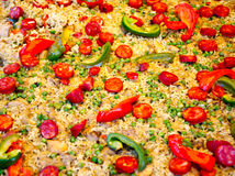 Hiszpański jedzenie na ulicznym rynku Fotografia Royalty Free
