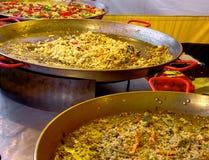 Hiszpański jedzenie na ulicznym rynku Zdjęcia Royalty Free