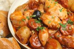 Hiszpański kurczaka gulasz Zdjęcie Stock