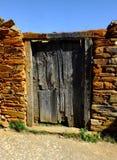 Hiszpański nieociosany drzwi Zdjęcia Royalty Free