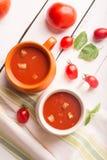 Hiszpański pomidorowy gazpacho Zdjęcia Stock