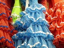 Hiszpańskie Flamenco suknie Zdjęcia Royalty Free