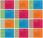 2016 hiszpańszczyzn kalendarz ilustracji