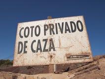 Hiszpańszczyzna nieociosany Znak Obrazy Royalty Free