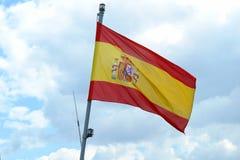 Hiszpańszczyzny Flaga Fotografia Stock
