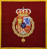 Hiszpania żakiet ręki Blazon zdjęcie royalty free