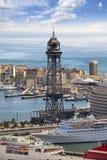 Hiszpania Barcelona barcelona port morski Spain odgórny widok Zdjęcia Royalty Free