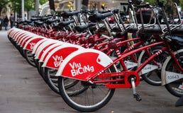 Hiszpania, Barcelona - miejscowego tryb transport Obrazy Stock