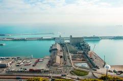 Hiszpania Barcelona Port Morski Zona Franca Fotografia brać 01 05 2017 Obraz Stock