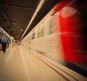 Hiszpania, Barcelona 2013-06-13, stacja metru Verdaguer Obrazy Royalty Free