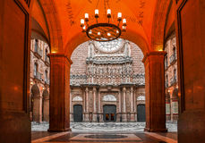 Hiszpania catalonia Barcelona Montserrat monaster Santa Maria d Zdjęcia Stock