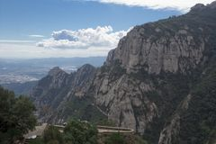 Hiszpania. Catalonia. Montserrat. Fotografia Stock