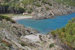 Hiszpania Costa Brava zatoczki nakrętki De Creus naturalny park Zdjęcia Royalty Free
