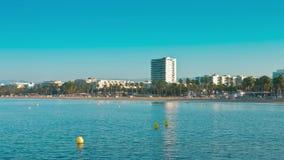 Hiszpania, Costa Dorada, Salou miasto, lato ranku plaża zbiory wideo
