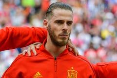 Hiszpania drużyny futbolowej krajowy bramkarz David De Gea zdjęcia royalty free