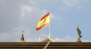 Hiszpania flaga Zdjęcia Royalty Free