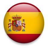 Hiszpania flaga guzik Obrazy Stock